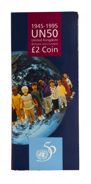 1995 £2 United Nations Brilliant Uncirculated pack